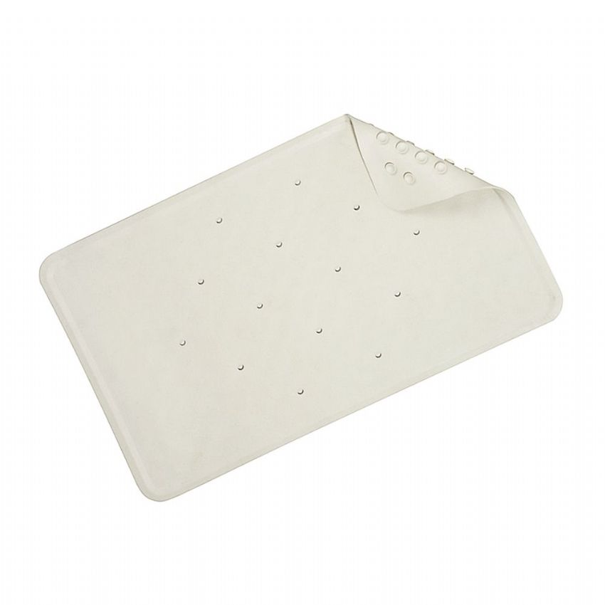 Croydex Luxury Rubagrip Medium White Bath Mat 74 x 34cm